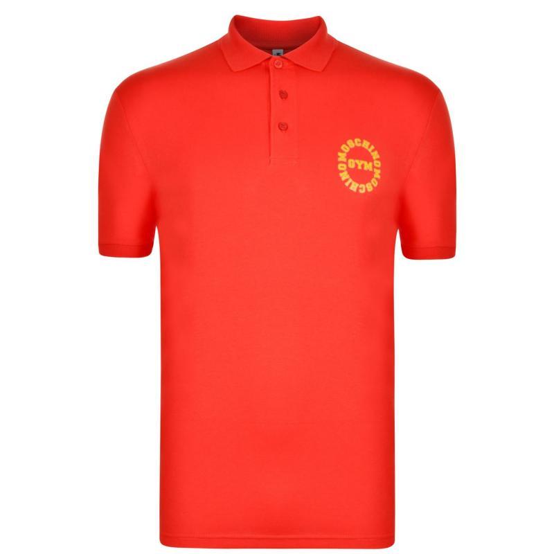Moschino Motif Polo Shirt Red