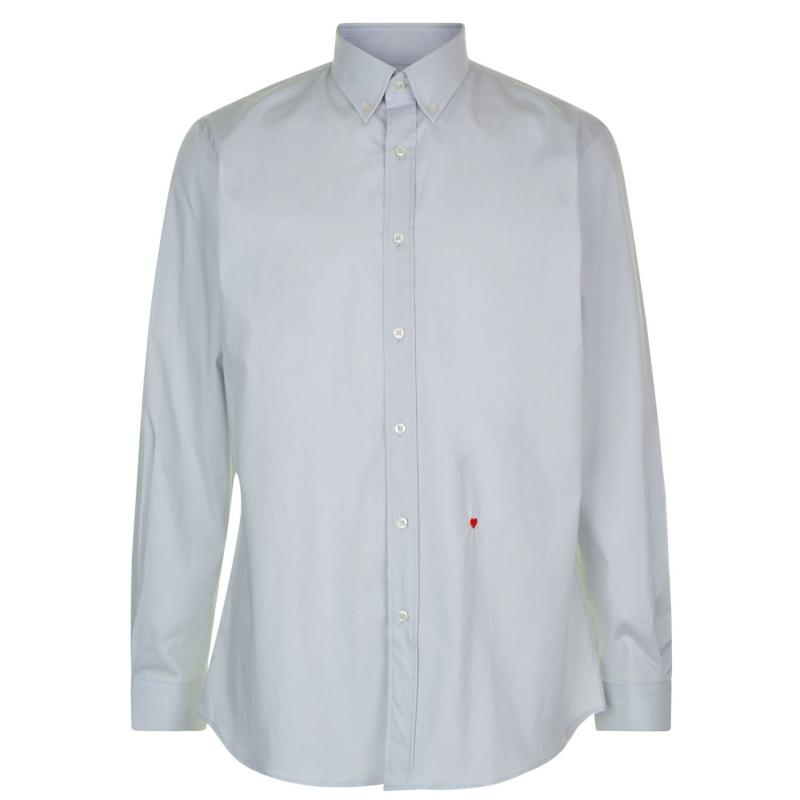Moschino Sleeved Shirt 8 BLBlu/Wht Stp