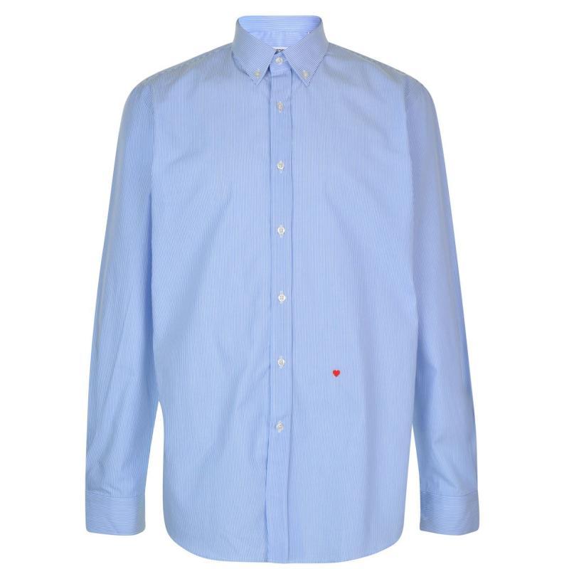 Moschino Sleeved Shirt 2 WBlu/BWht Stp