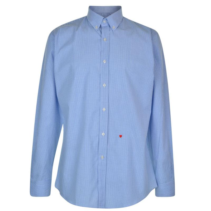 Moschino Sleeved Shirt 22 Blu/LBlu/Wh