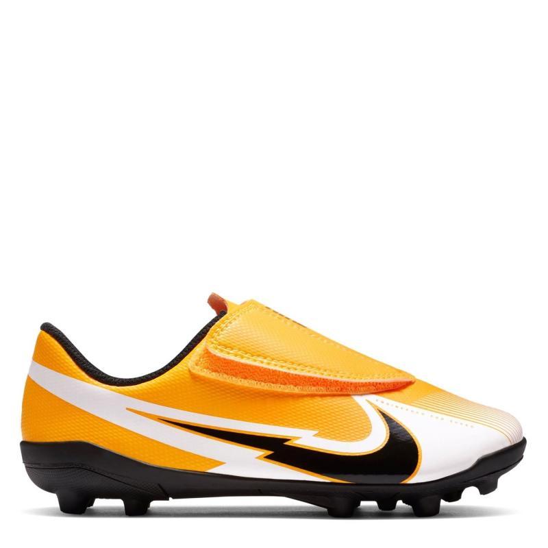 Nike Mercurial Vapor Club Childrens FG Football Boots LASER ORANGE/BLACK-WHITE-LASER
