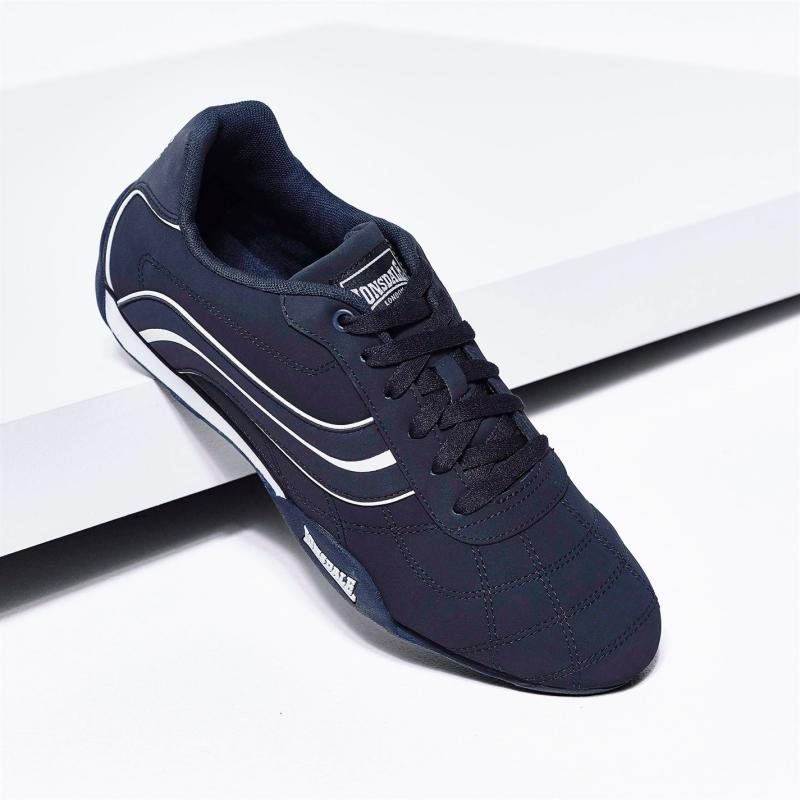 Lonsdale Camden Mens Trainers Navy/White