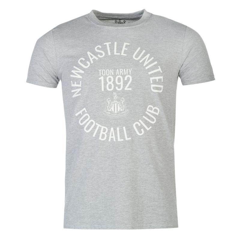 Tričko NUFC Newcastle United Toon Army T Shirt Mens Grey