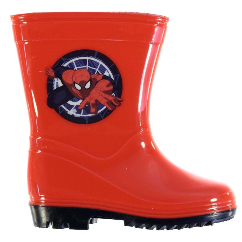 Character Spiderman Wellingtons Childrens Red