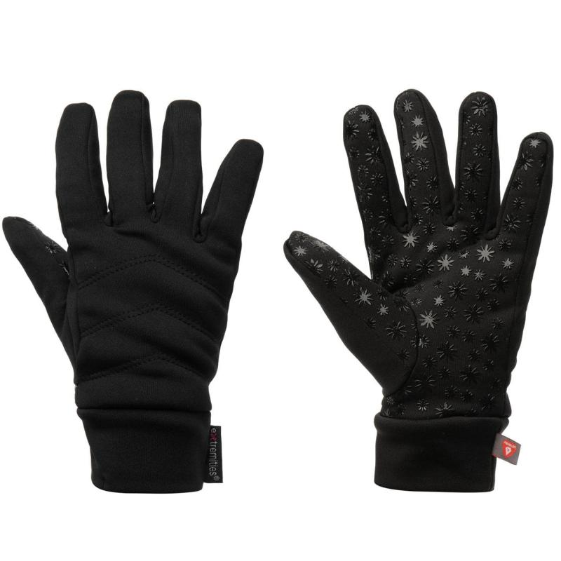 Extremities Knit Gloves Junior Black