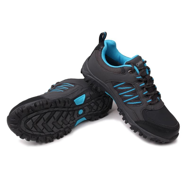 Gelert Horizon Low Waterproof Walking Shoes Charcoal/Blue