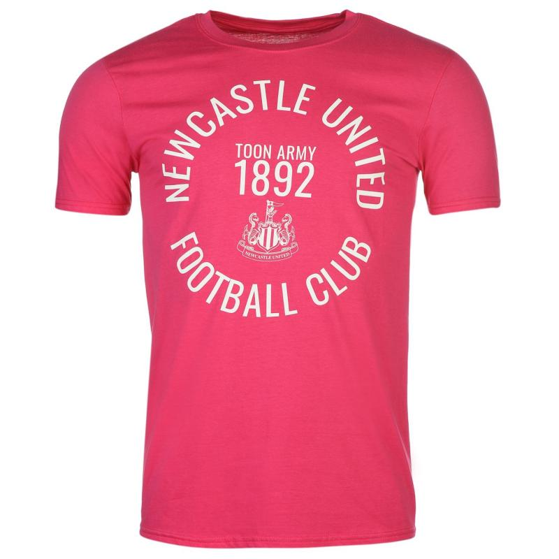 Tričko NUFC Newcastle United Toon Army T Shirt Mens Pink