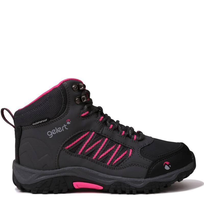 Gelert Horizon Mid Waterproof Walking Boots Juniors Charcoal/Pink