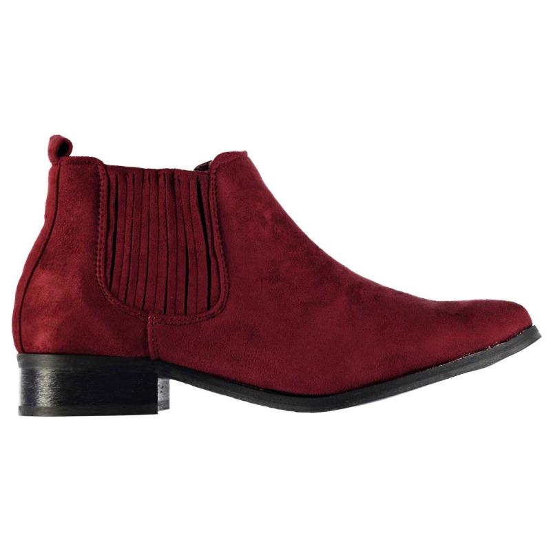 Mystify Chelsea Ankle Boots Ladies Burgundy