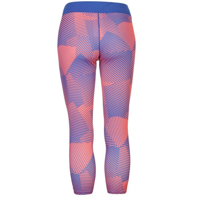 Legíny Mizuno Phenix Three Quarter Running Tights Ladies Blue/Coral