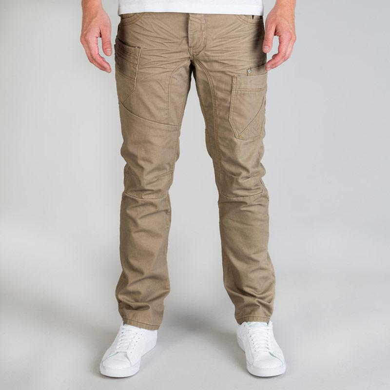 Eto Mens Anti Fit Casual Jeans Taupe