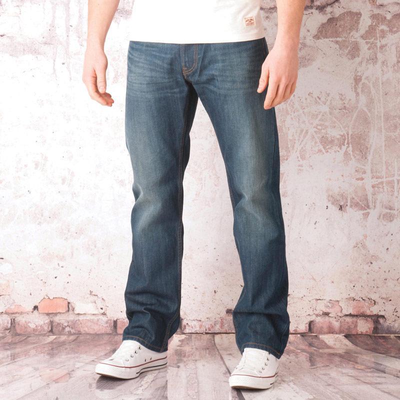 Lee Mens Blake Regular Straight Green Worn Jeans Denim