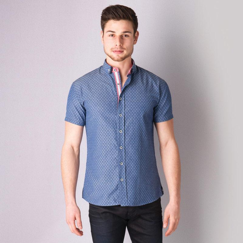Bewley And Ritch Mens Toryn Shirt Blue
