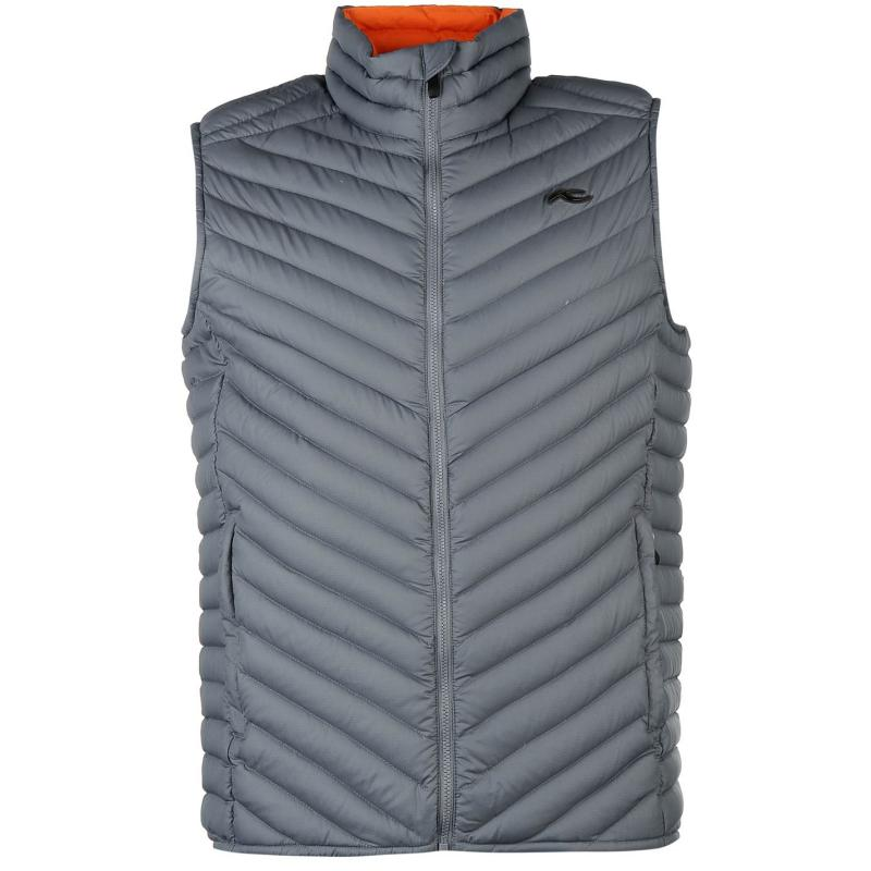 KJUS Blackcomb Down Vest Jacket Mens Grey