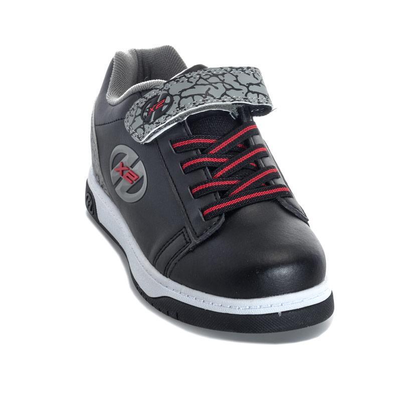 Boty Heelys Children Boys Dual Up X2 Skate Shoes Black Grey
