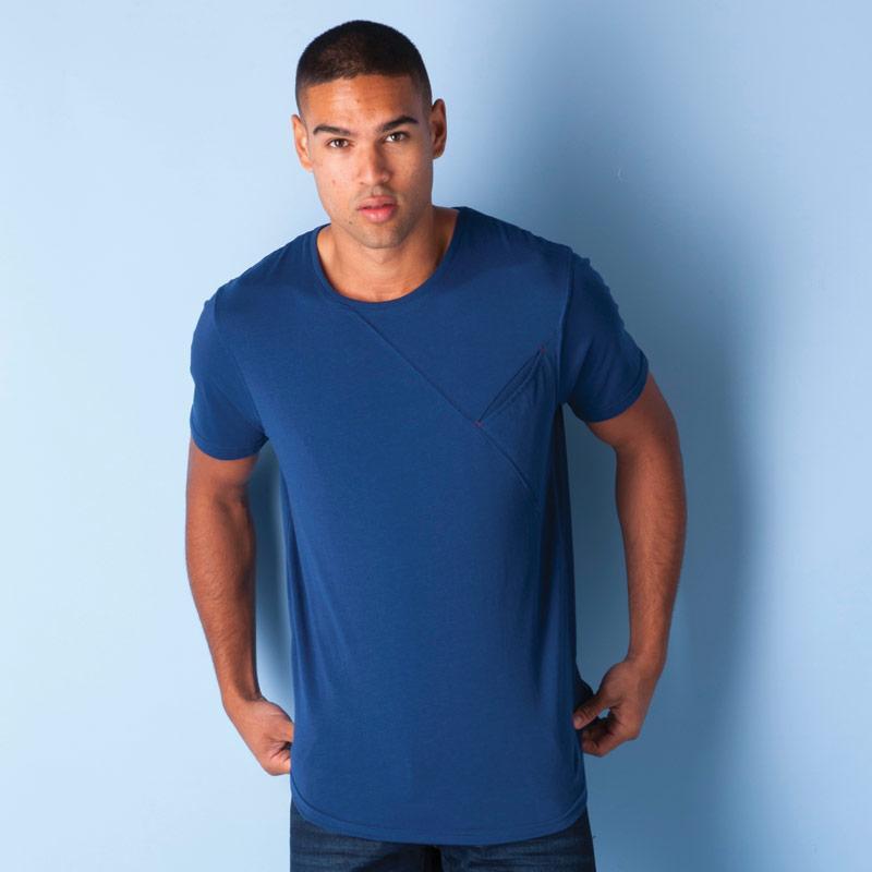 Tričko Ringspun Mens Watermelon Pocket T-Shirt Indigo