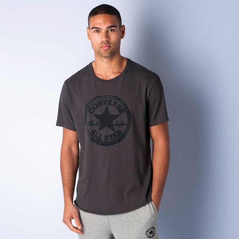 Tričko Converse Mens Core Plus Baseball T-Shirt Charcoal