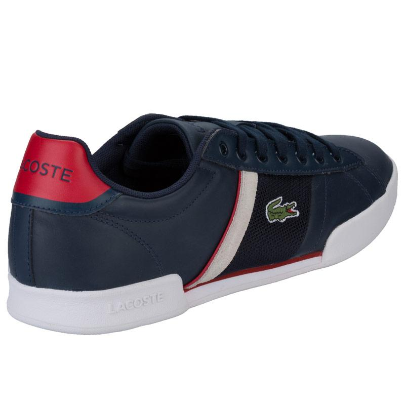 Lacoste Mens Deston Trainers Charcoal