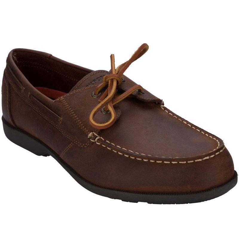 Boty Rockport Mens Summer Sea 2 Eye Shoe Tan