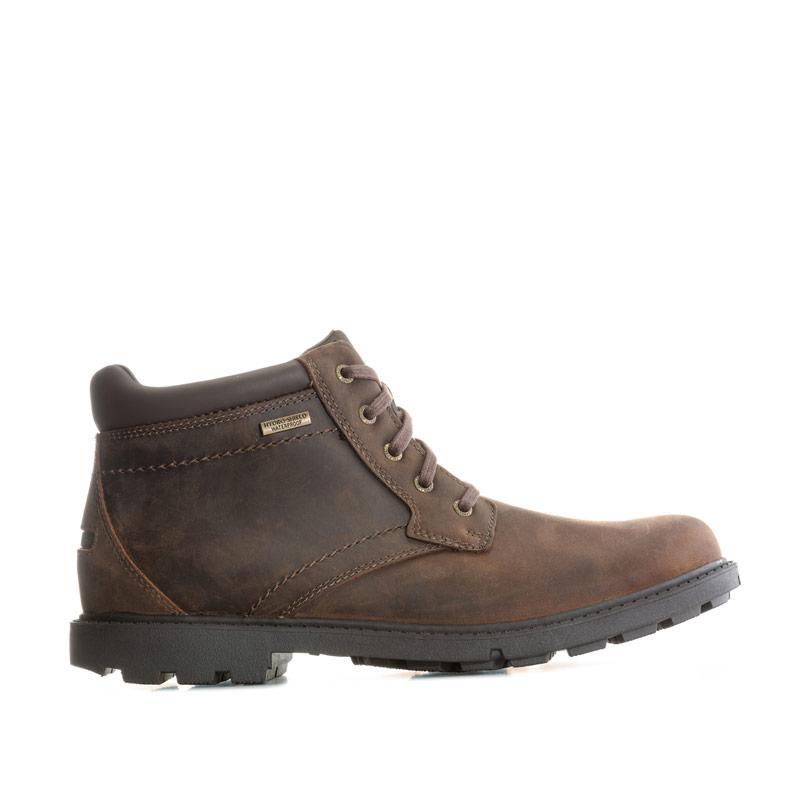 Boty Rockport Mens Storm Surge Plain Toe Boots Brown