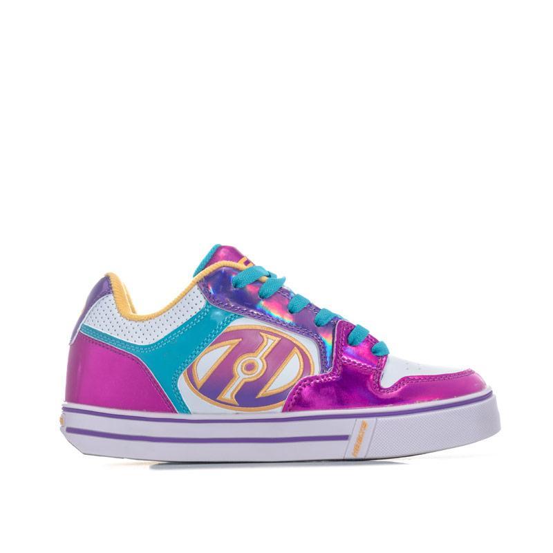 Heelys Junior Girls Motion Plus Skate Shoes White pink