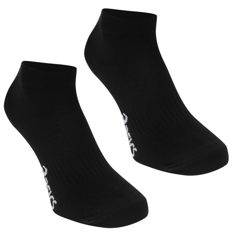 Asics 2 Pack Tech Running Socks Mens Black