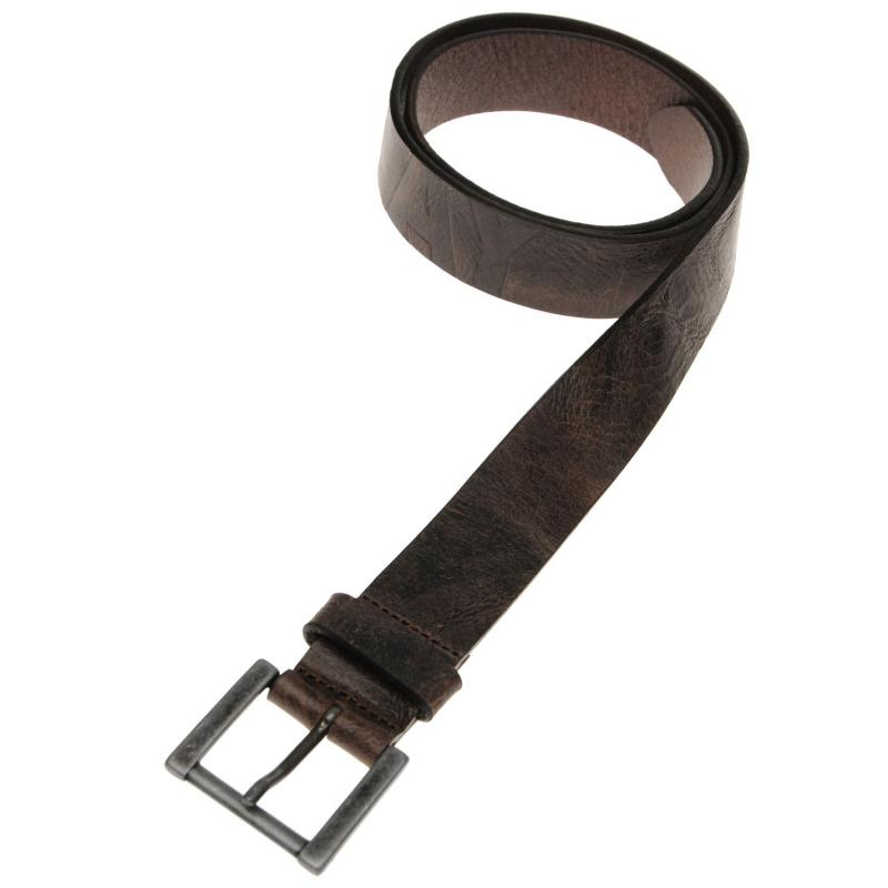 Replay Jamy Leather Belt Brown