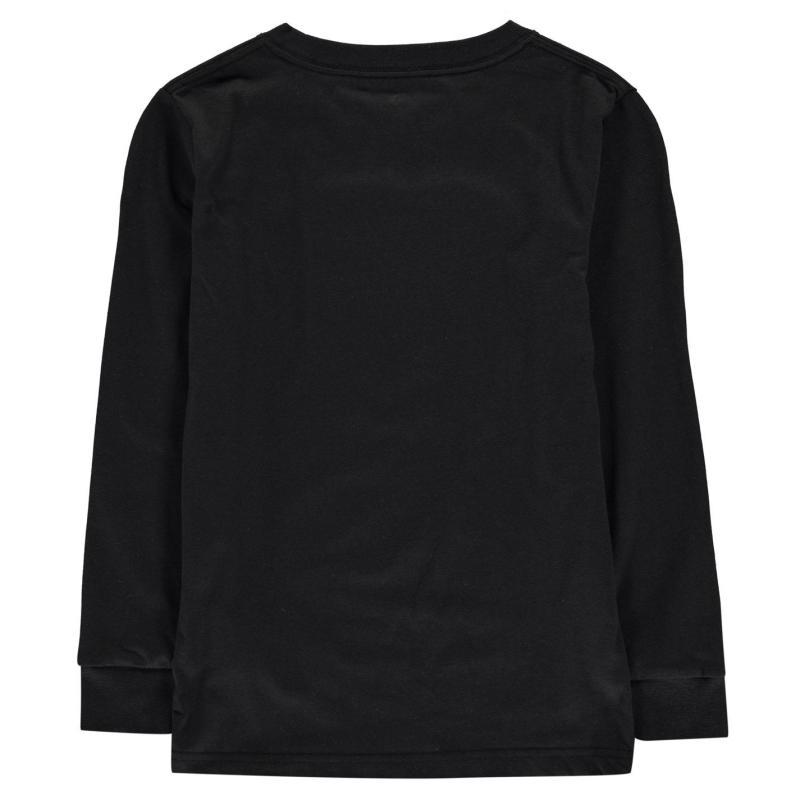 Tričko Converse Chuck Long Sleeved T Shirt Junior Boys Black