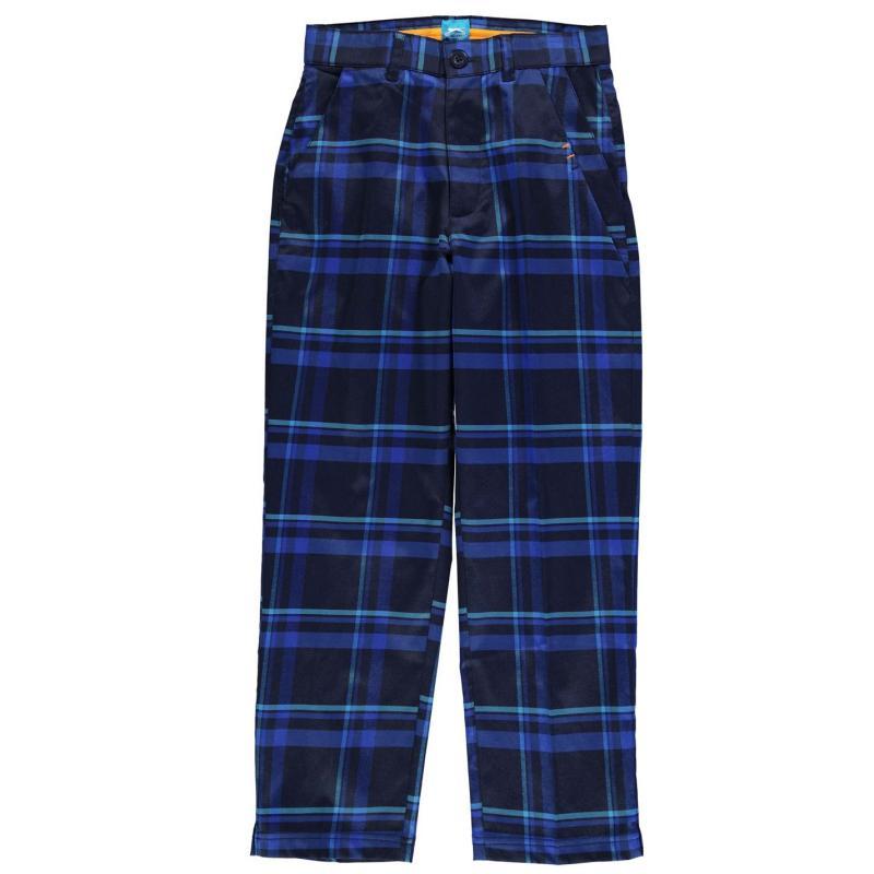 Kalhoty Slazenger Check Golf Trousers Junior Boys Navy