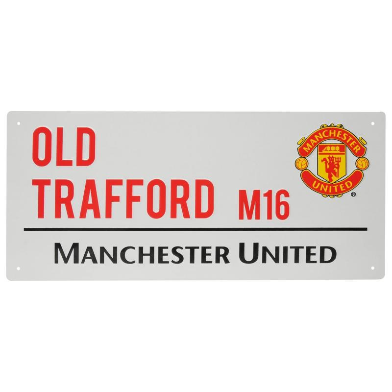 Team 3D Street Sign Man United