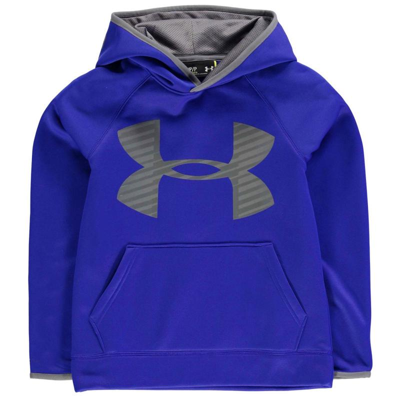 Mikina Under Armour Highlight Over The Head Hoody Junior Boys Royal