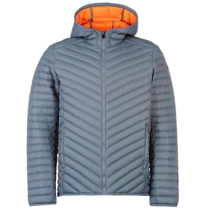 KJUS Blackcomb Hooded Down Jacket Mens Grey