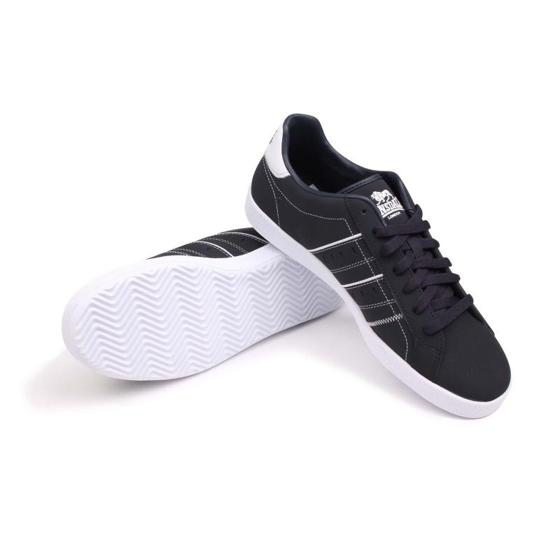 Lonsdale Oval Trainers Mens Navy/White