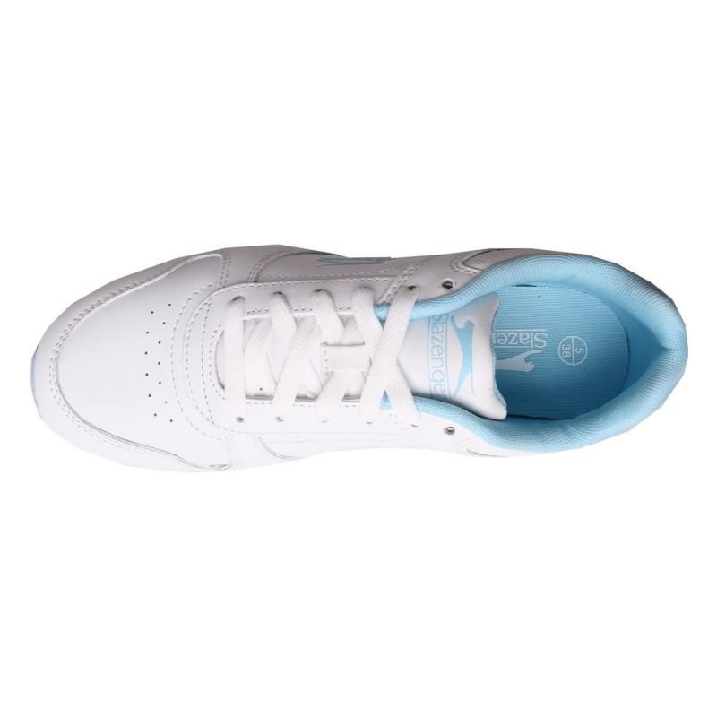 Slazenger Classic Ladies Trainers White/Pow Blue