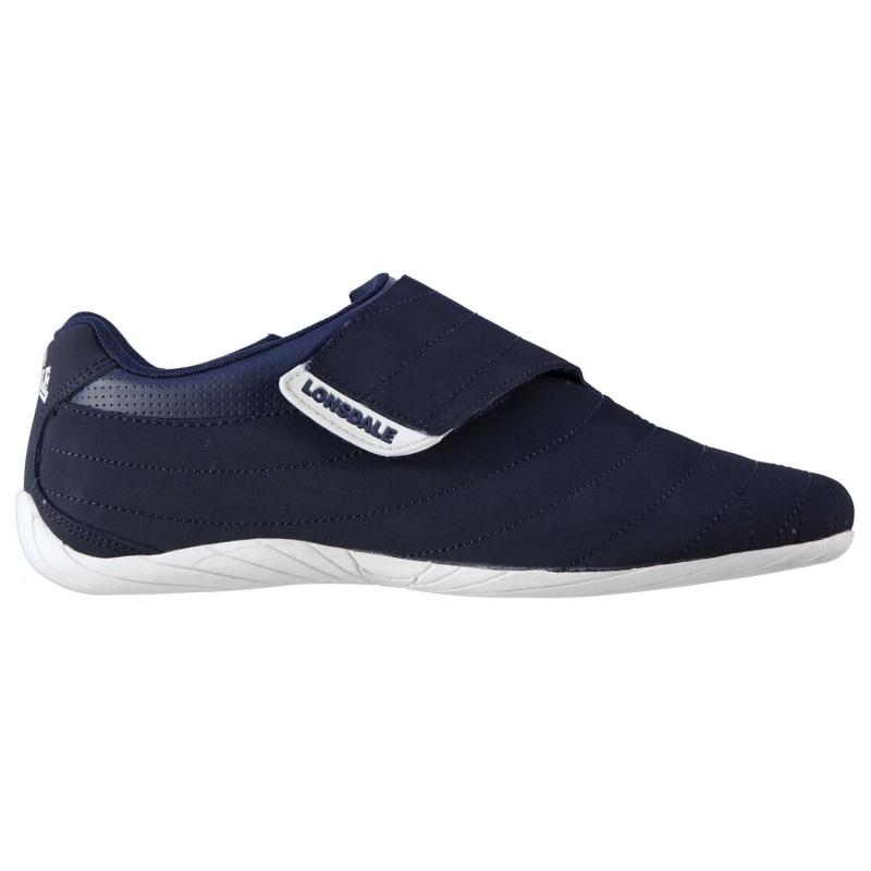 Lonsdale Brompton Mens Trainers Navy/White