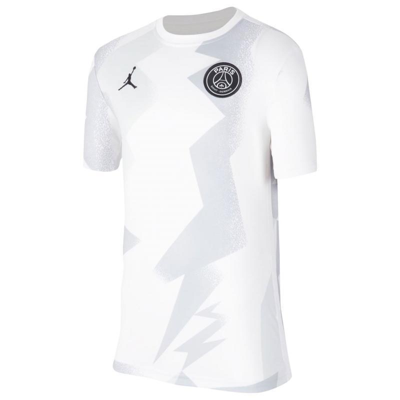 Nike Jordan x Paris Saint-Germain Kids' Short-Sleeve Soccer Top White