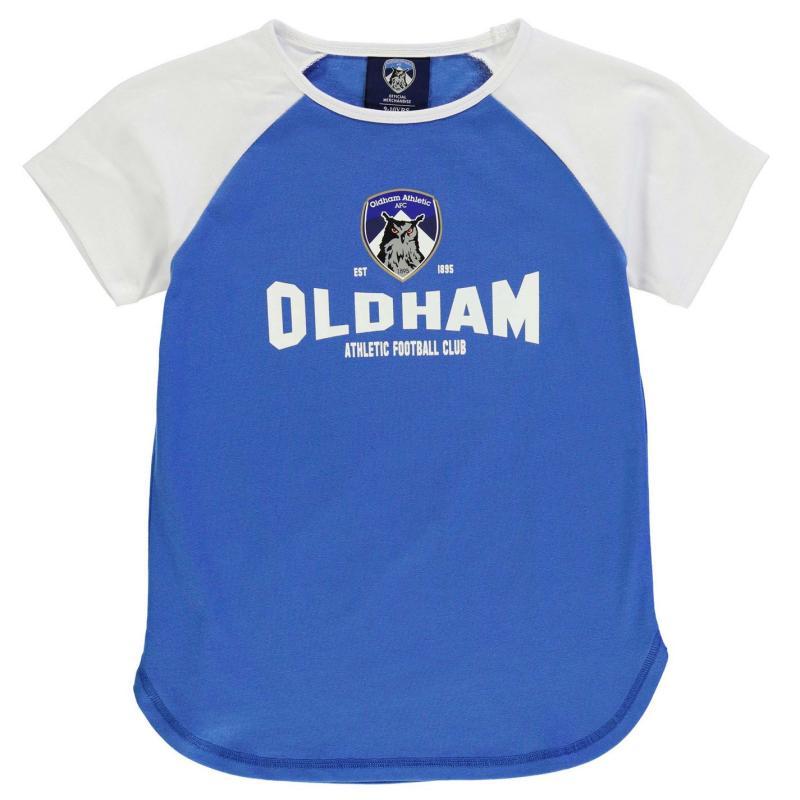 Team Oldham Graphic T Shirt Junior Girls Royal