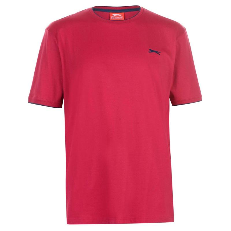 Tričko Slazenger Tipped T Shirt Mens Bright Blue