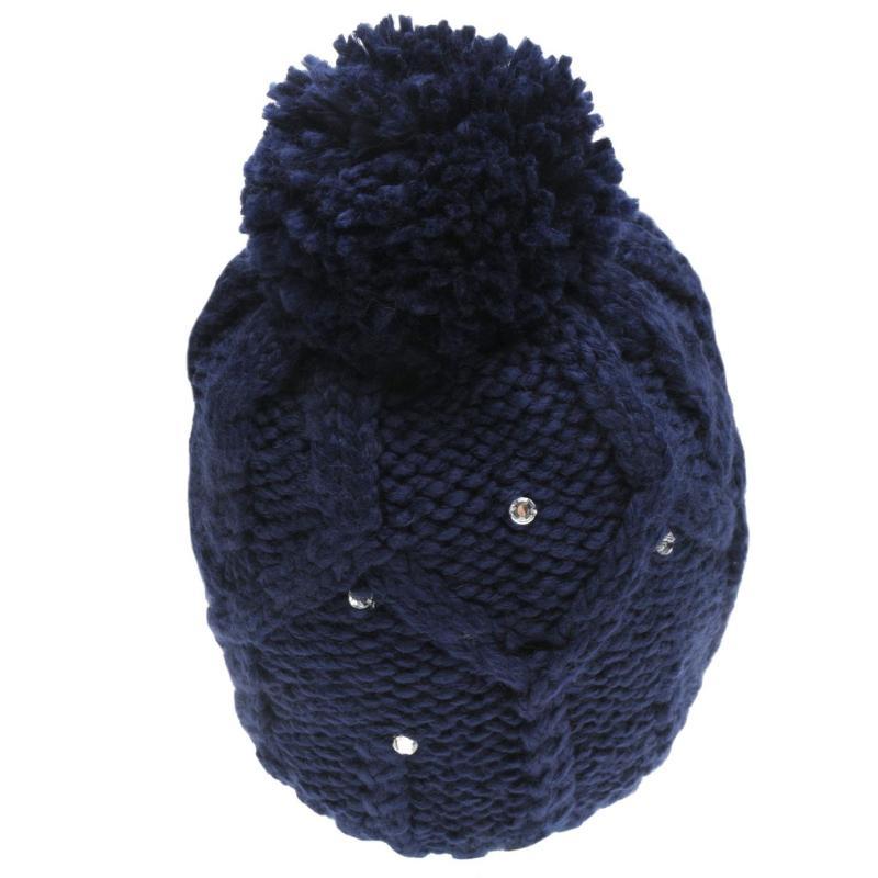 Roxy Star Beanie Hat Ladies Blue