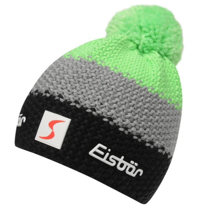 Eisbär Eisbar Fergus Neon Ski Hat Juniors Black/Green