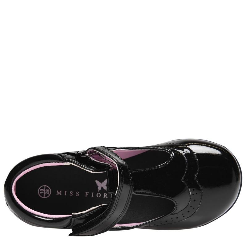Miss Fiori Tara T Bar Shoes Childrens Black/Patent