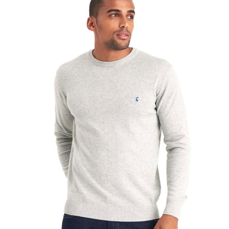 Mikina Joules Retford Crew Sweater Pale Grey Marl