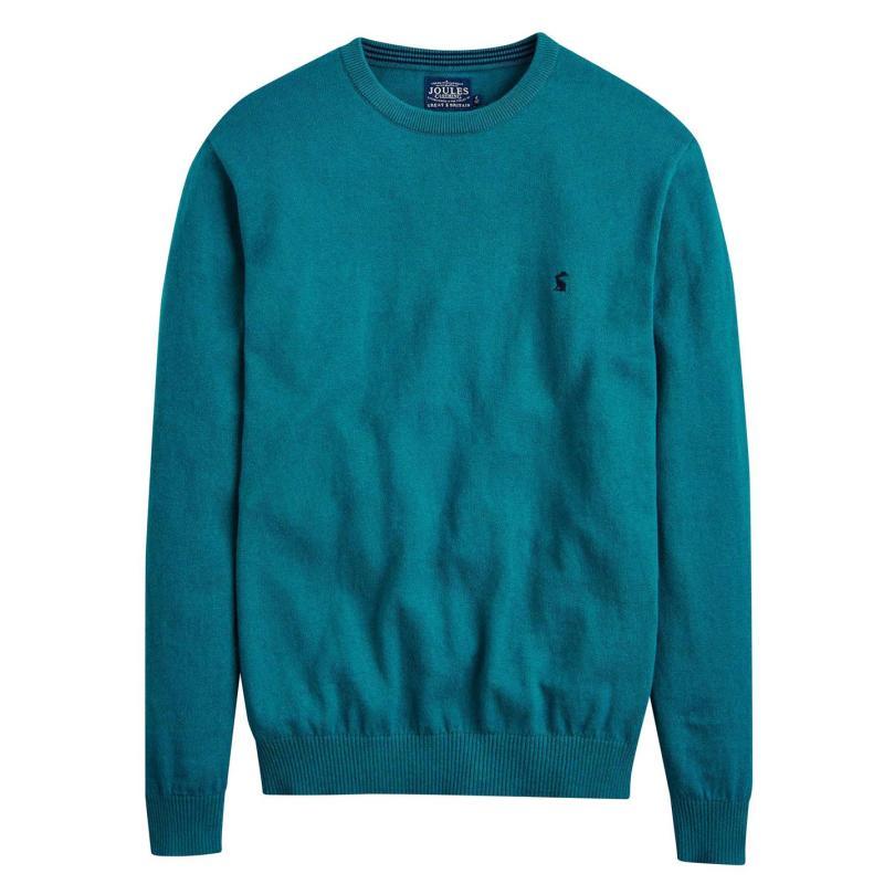 Mikina Joules Retford Crew Sweater Teal Marl
