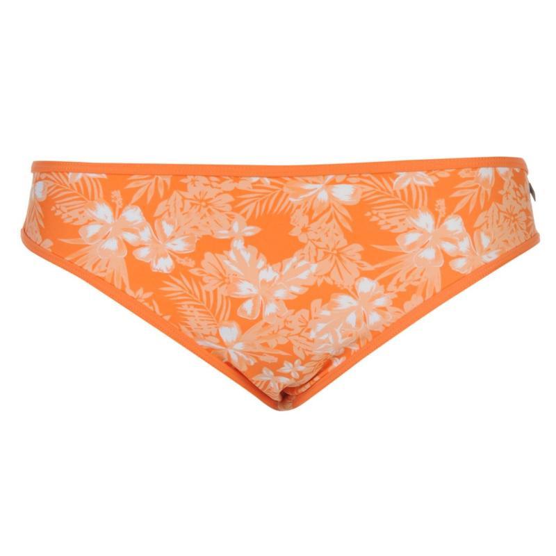Plavky SoulCal Printed Bikini Briefs Ladies Coral Floral