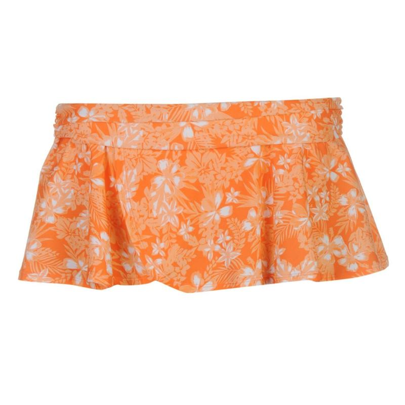 Plavky SoulCal Swim Skirt Ladies Coral Floral