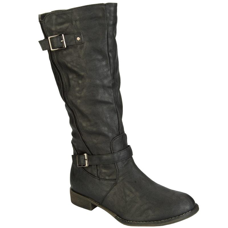 Odeon Womens Buckle Boots 39165 Black