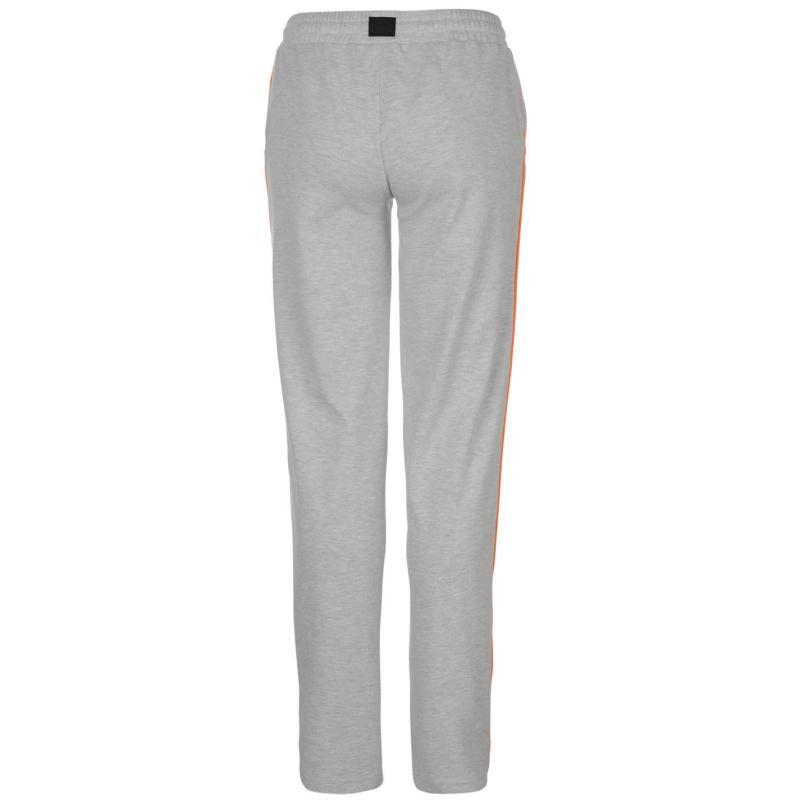 Sportovní kalhoty Lonsdale Logo Jersey Pants Womens Grey M/Orange