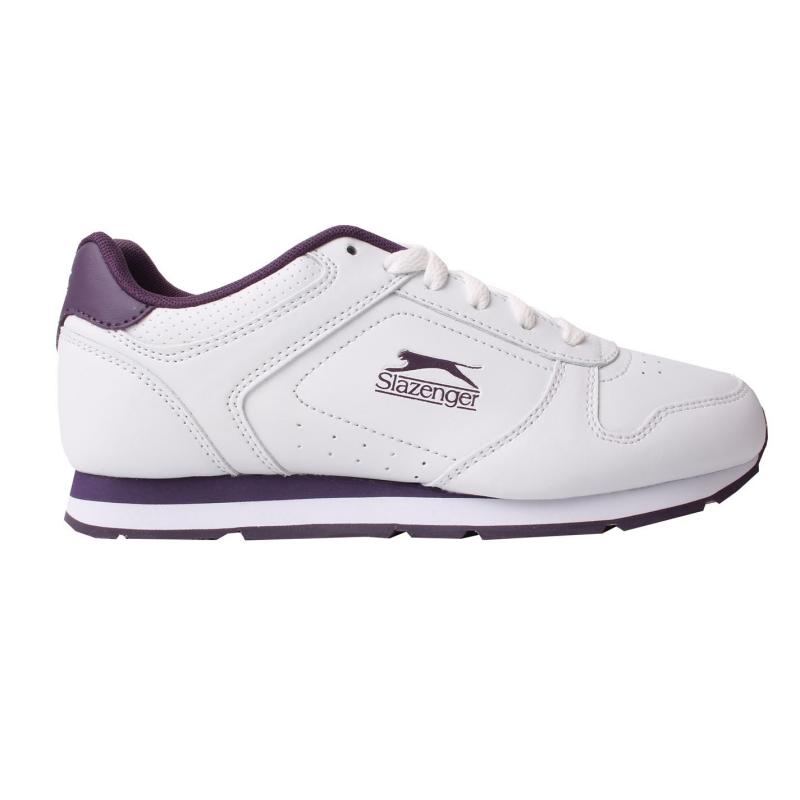 Slazenger Classic Ladies Trainers White/Cerise