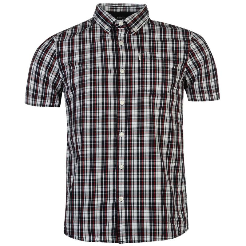 883 Police Sigma Check Shirt Navy