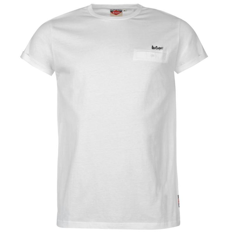 Tričko Lee Cooper Essential Roll Sleeve T Shirt Mens White